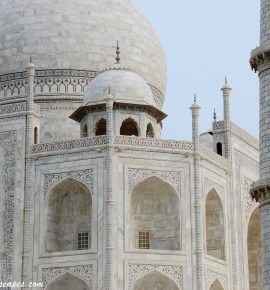 Facing the Taj Mahal